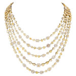 Gold Necklace Design-4 layer chain necklace