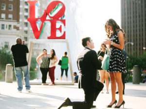 men propose for the marriage