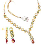 Gold necklace design-sukkhi-kundan-cz-gold-and-rhodium-plated-traditionally-crafted-necklace-set