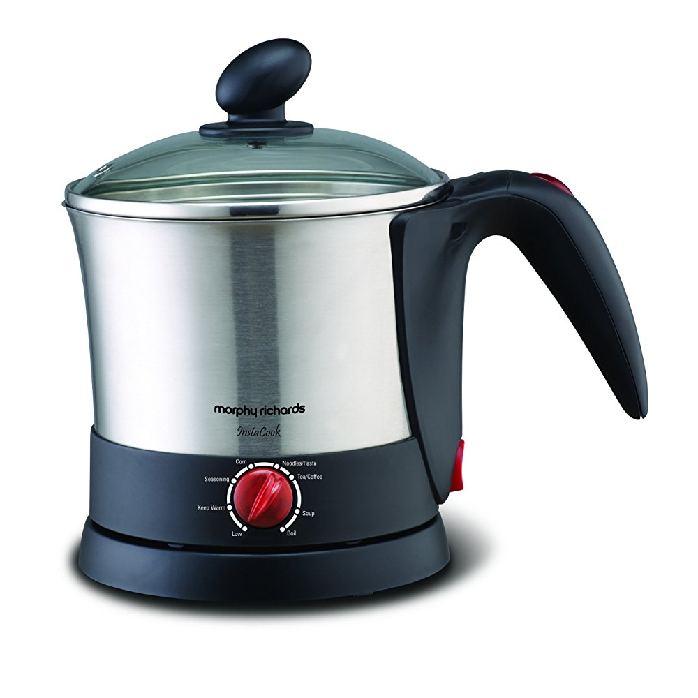 Morphy Richards Insta Cook 1-Liter Stainless Steel Electric Kettle