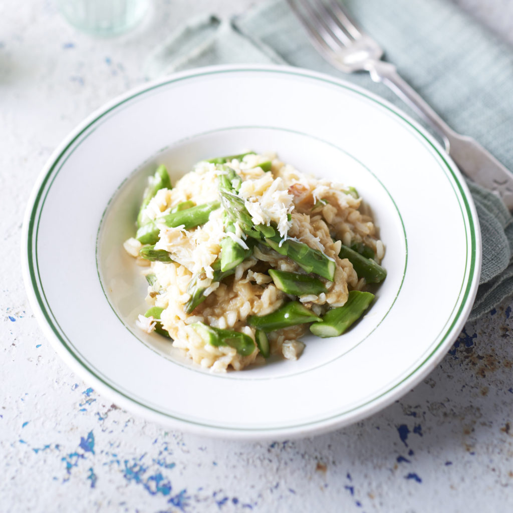 crab-and-asparagus-risotto