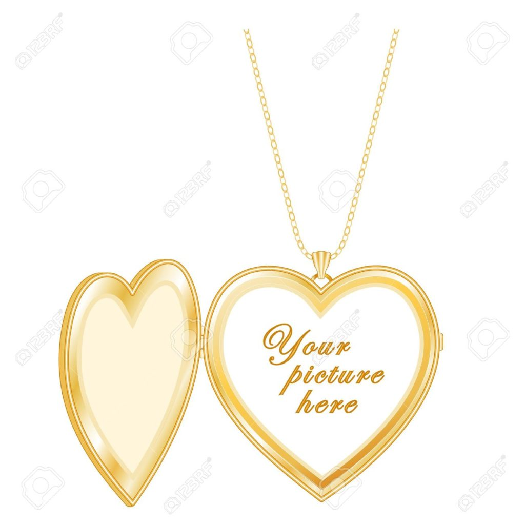 Gold-Heart-Locket-chain-necklace