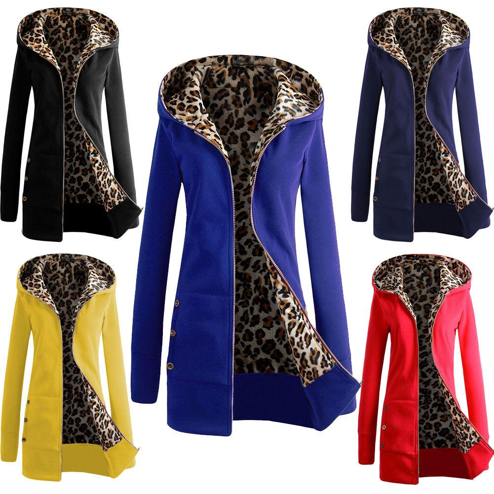 Outdoor long sleeve hoodie jacket zipper leopard