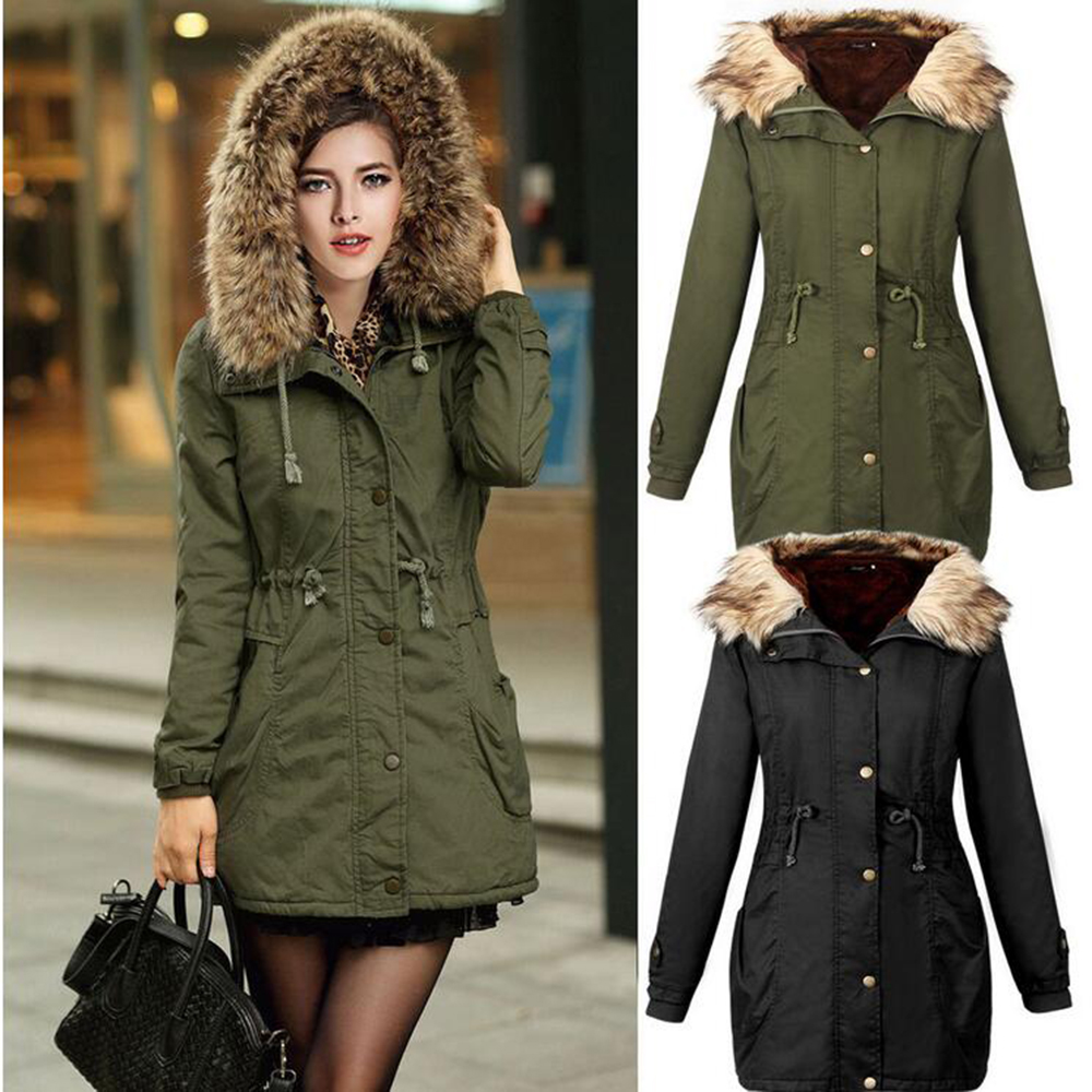 cashmere coat women quilted hooded jacket Wadded