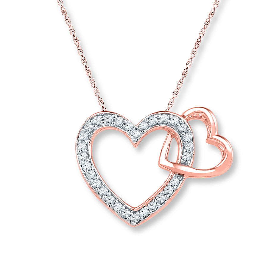 gold-heart-necklace-with-diamondsrose