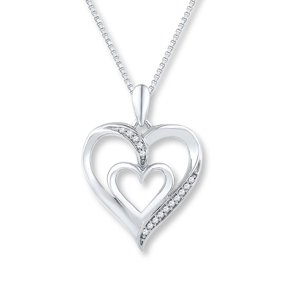 silver-heart-necklace-with-diamonds