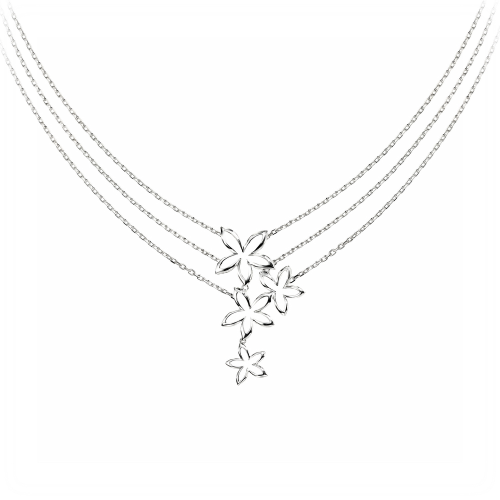 sterling-silver-open-flowers-necklace-with-triple-layered-chain