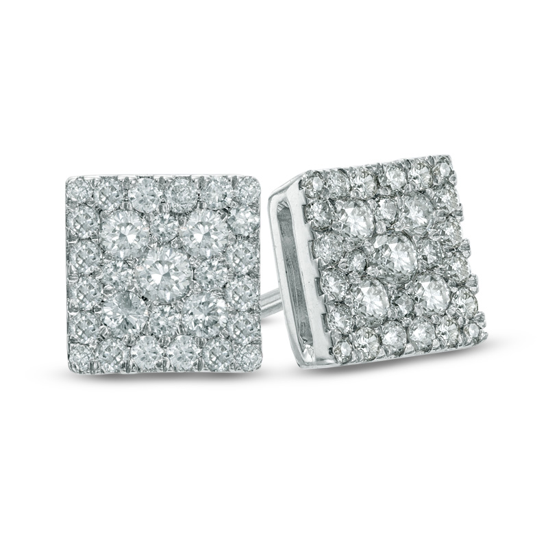stud earring square