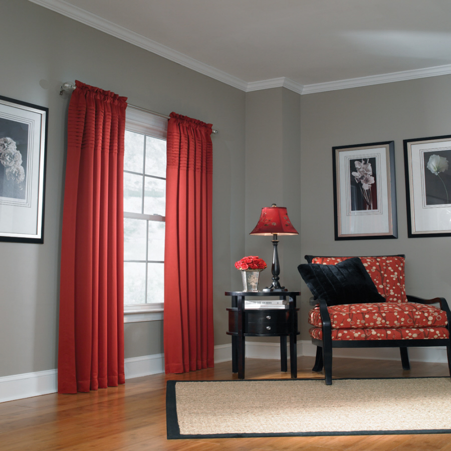 Black and red curtains for living room - Red Curtains