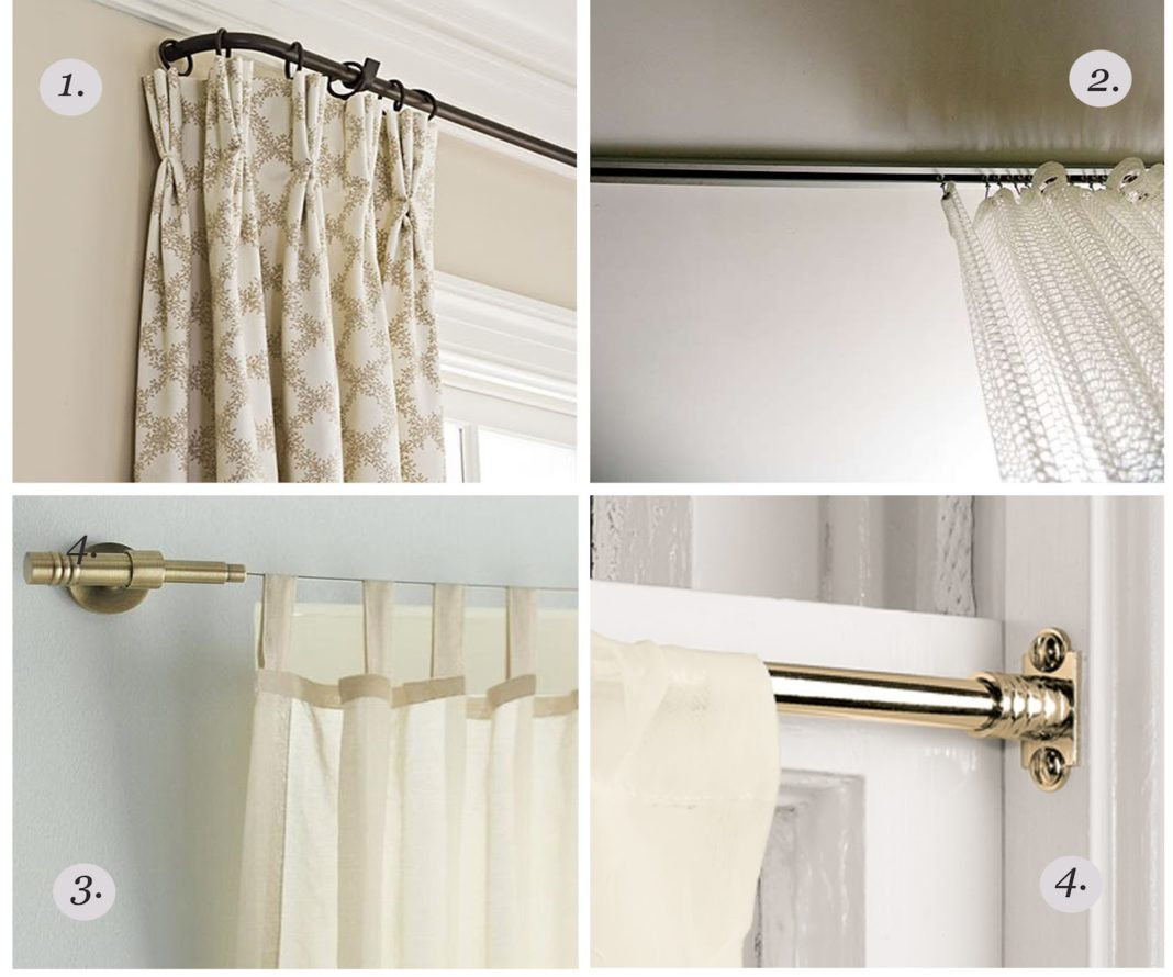 ceiling mount curtain rods  ceiling design -
