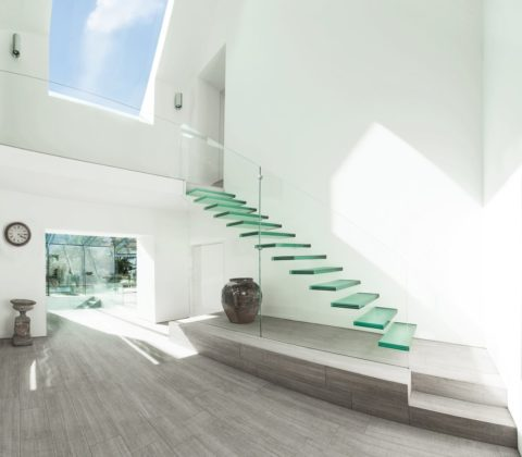 glass stair