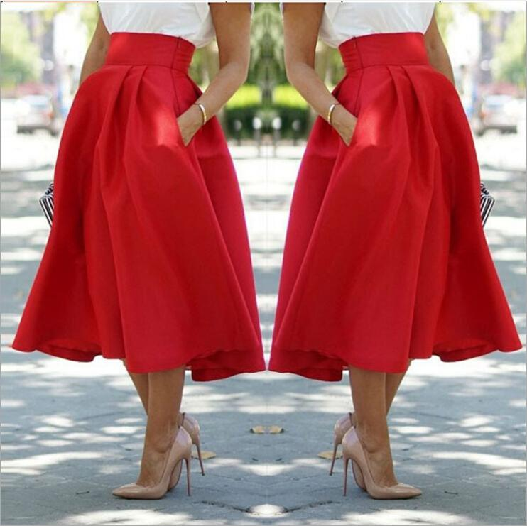 red skirt by the knees and solve your problems