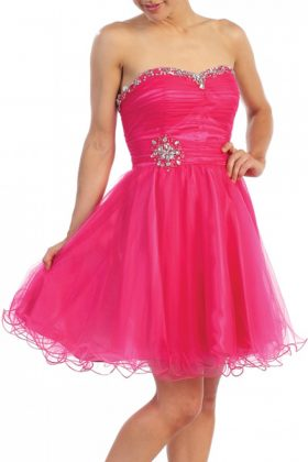 Strapless-short-prom-dress