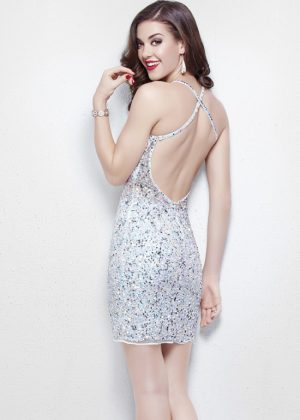 Open back Short Prom Dress